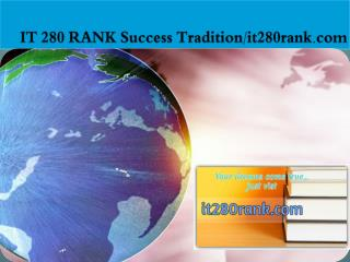 IT 280 RANK Success Tradition/it280rank.com