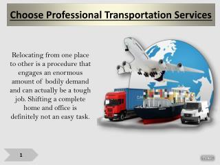 Choose Professional Transportation Services
