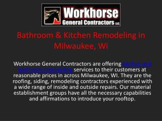 Bathroom & Kitchen Remodeling in Milwaukee, Wi