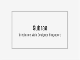 Freelance Web Designer Singapore