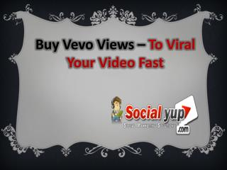 Buy Vevo Views Service to Viral Your Music Video