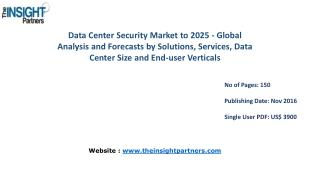 Data Center Security Market Opportunities and Strategic Focus Report |The Insight Partners