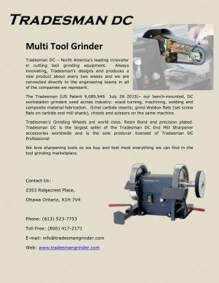 Multi Tool Grinder