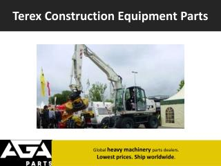 Terex Parts Dealer Online - AGA Parts