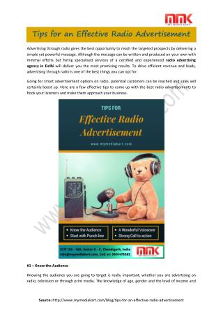Radio advertising agency in Chennai