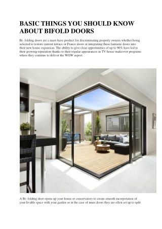 BASIC THINGS YOU SHOULD KNOW ABOUT BIFOLD DOORS