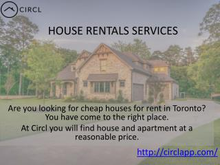 CIRCLAPP | Luxury House Rental Services Toronto