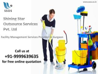 Cost effective Corporate Facility Management Services in Gurgaon? Call on 9999639635