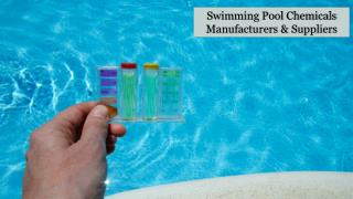Swimming Pool Sanitation Chemicals in Sharjah