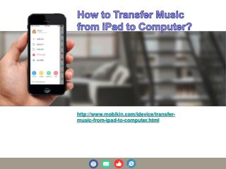 How to transfer music from ipad to computer?
