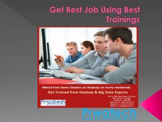 Get Best Job Using Best Trainings