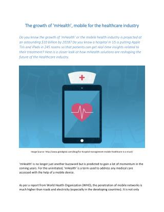 mHealth – Mobile Healthcare App Market Sizing 2015 – 2020