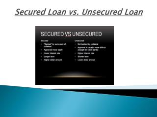 Unsecured and Secured Loans - What Are They?