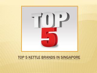 Top 5 Kettle Brand In Singapore