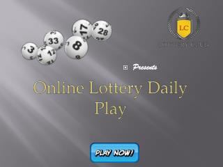 Online Lottery Daily Play