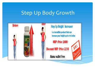 step up body growth - A marvelous product to increases height.