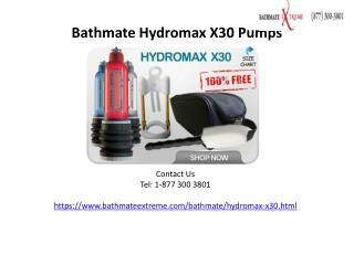 Bathmate Hydromax X30 Pumps