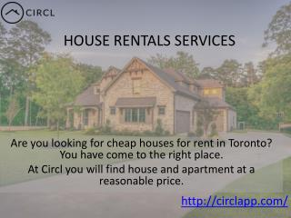 CIRCLAPP - Great House Rental Services in Canada