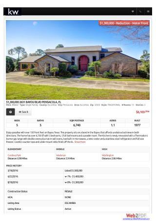 BAYOU BLVD PENSACOLA, FL | PENSACOLA REAL ESTATE, English Realty Group LLC