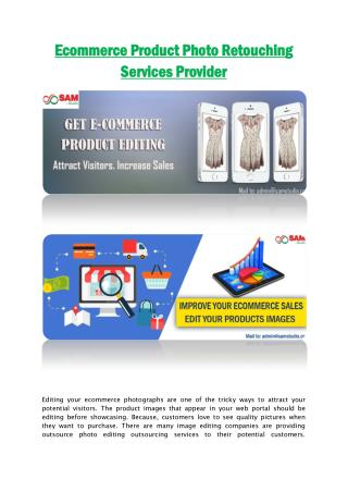 Ecommerce Product Photo Retouching Services Provider