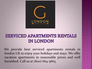 Serviced Apartments Rentals in London