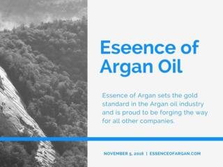 Buy Argan Oil - Essence of Argan