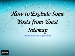 How to Exclude Some Posts from Yoast Sitemap
