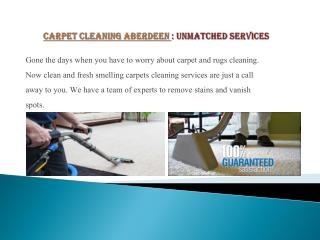 Carpet cleaning Aberdeen - Top Notch Service