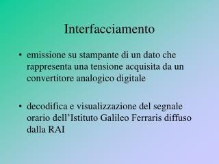 Interfacciamento