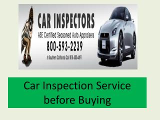 Car Inspection Service before Buying