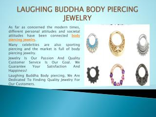 LAUGHING BUDDHA BODY PIERCING JEWELRY