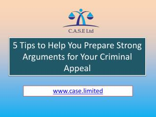5 Tipsto Help You Prepare Strong Arguments for Your Criminal Appeal