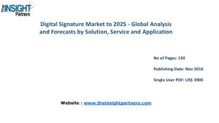 Digital Signature Market Share, Size, Forecast and Trends by 2025 |The Insight Partners