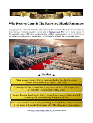 Why Roselyn Court is The Name you Should Remember