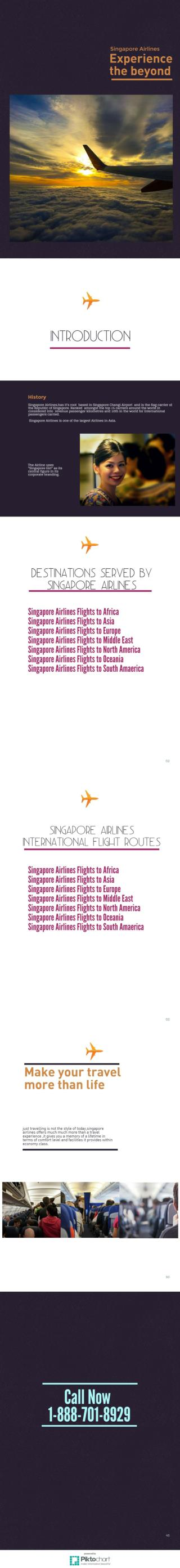 Singapore Airlines Booking  Phone Number 1-888-701-8929