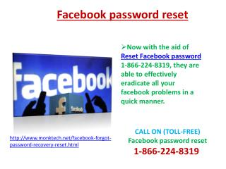 Facebook Password Recovery Number1-866-224-8319 for Getting Recover Facebook password