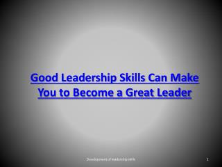 Good leadership skills