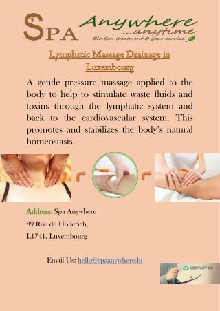 Lymphatic Massage Drainage in Luxembourg