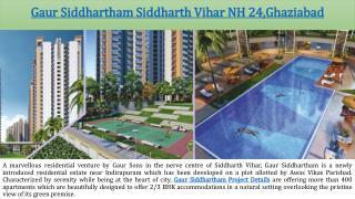Gaur Siddhartham Beautiful Flats in Ghaziabad