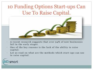 10 Funding Options to Raise Startup Capital for Your Business