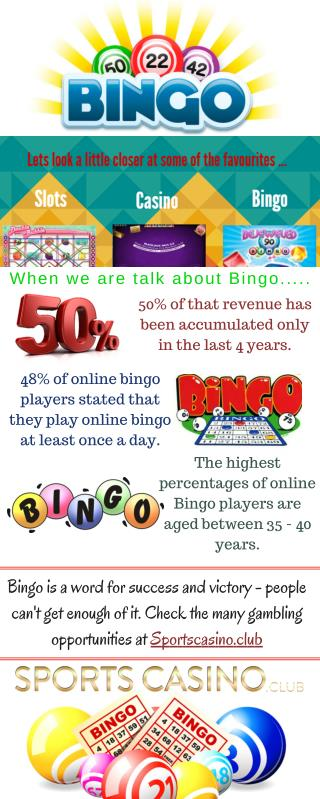 Play Online Bingo at Sports Casino.Club