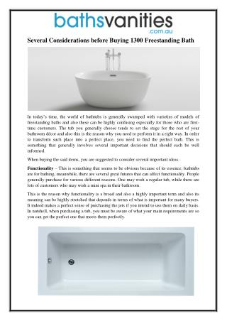 Several Considerations before Buying 1300 Freestanding Bath