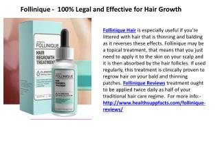 Follinique -  100% Legal and Effective for Hair Growth