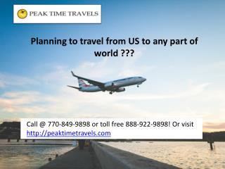 Planning to travel from US to any part of world???