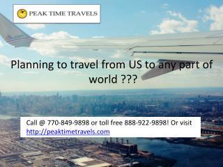 Insider Secret of Affordable Flights by Peak Time Travels