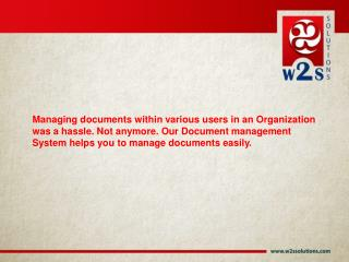Document Management Systems - W2S Solutions.PPT