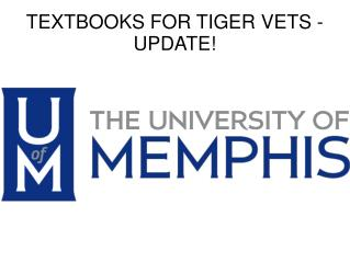 TEXTBOOKS FOR TIGER VETS - UPDATE!