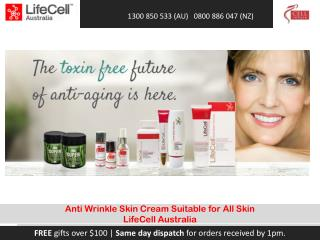 Anti Wrinkle Skin Cream Suitable for All Skin LifeCell Australia
