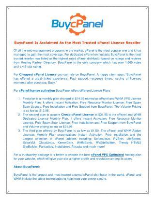 cPanel License Reseller