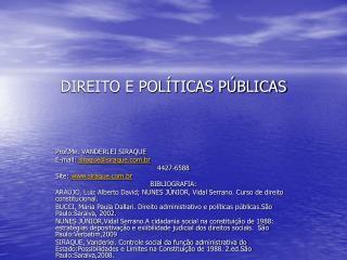 DIREITO E POL TICAS P BLICAS